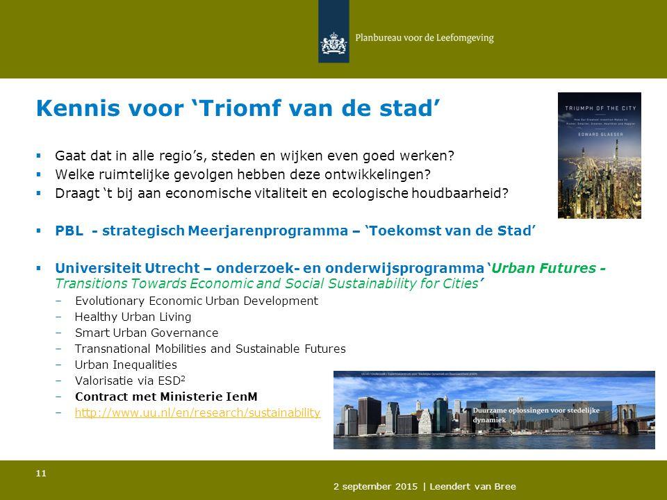 Kennis voor 'Triomf van de stad'  Gaat dat in alle regio's, steden en wijken even goed werken.