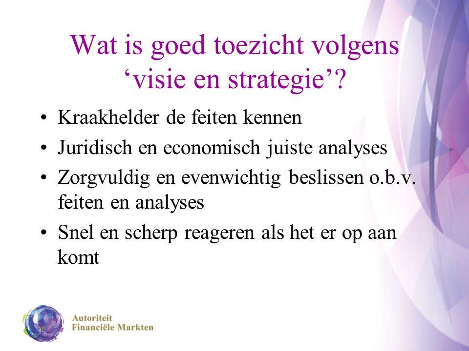Wat is goed toezicht volgens 'visie en strategie'.