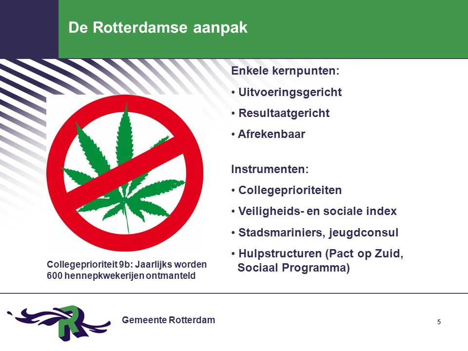 Gemeente Rotterdam 26 Meetbare doelen: schieten we door .