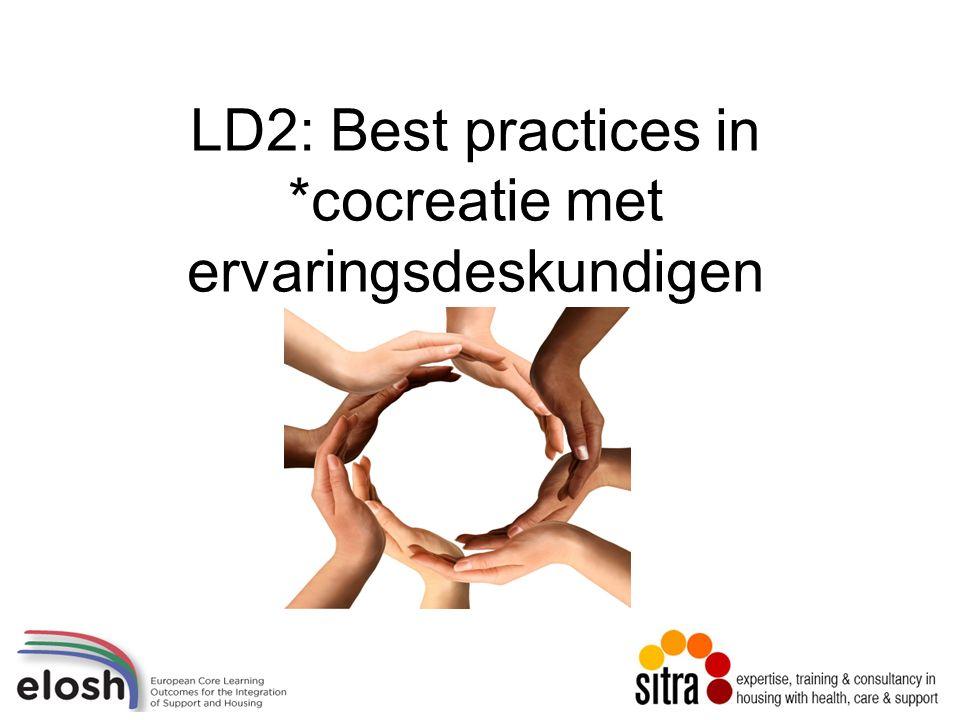 LD2: Best practices in *cocreatie met ervaringsdeskundigen