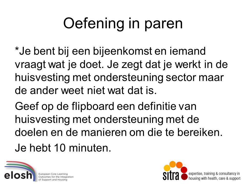 Voorbeelden van rechten in huisvesting met ondersteuning Voor sommige organisaties worden de rechten van cliënten weergeven in de visie en ethos.