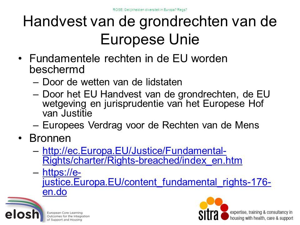 ROSE: Gelijkheid en diversiteit in Europa. Regs.