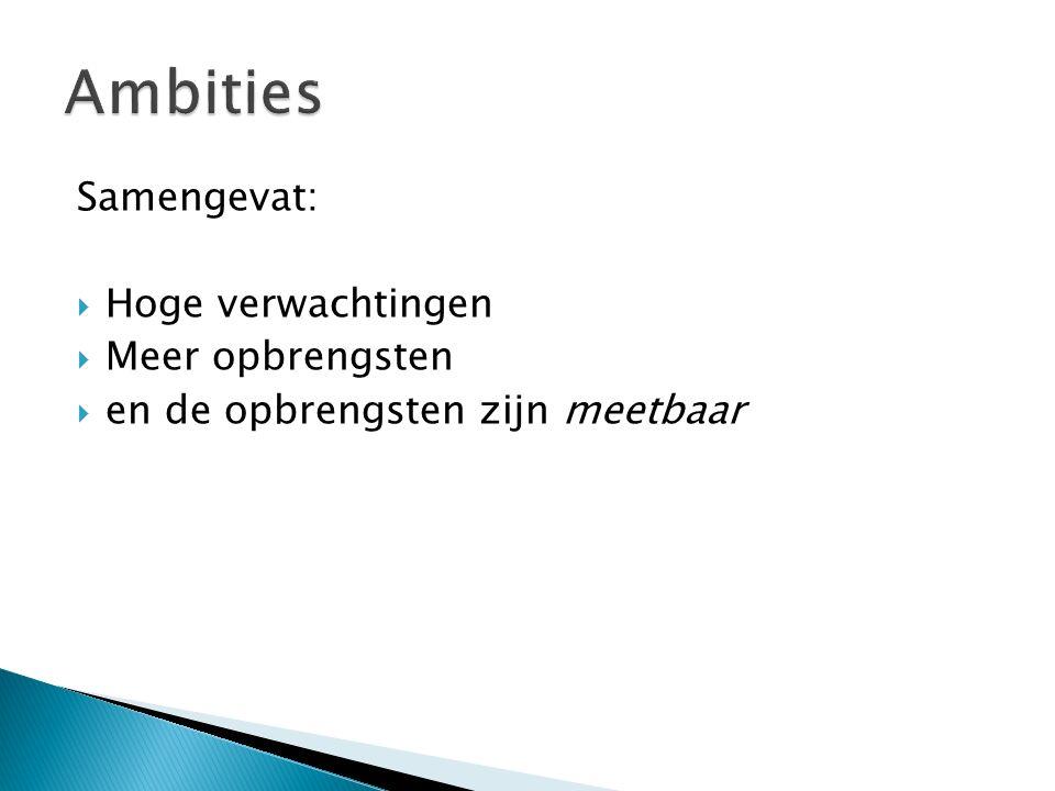 Goede prestaties op de kernvakken en bredere vorming versterken elkaar. Zie ook Kortlever en Lemmens (diss.