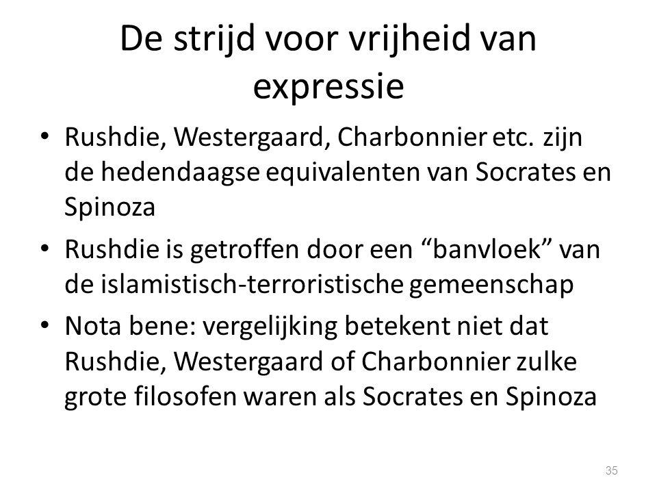 De strijd voor vrijheid van expressie Rushdie, Westergaard, Charbonnier etc.