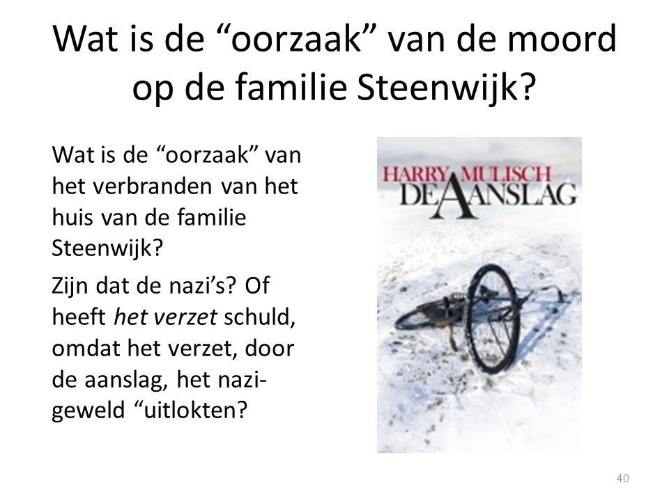 Wat is de oorzaak van de moord op de familie Steenwijk.