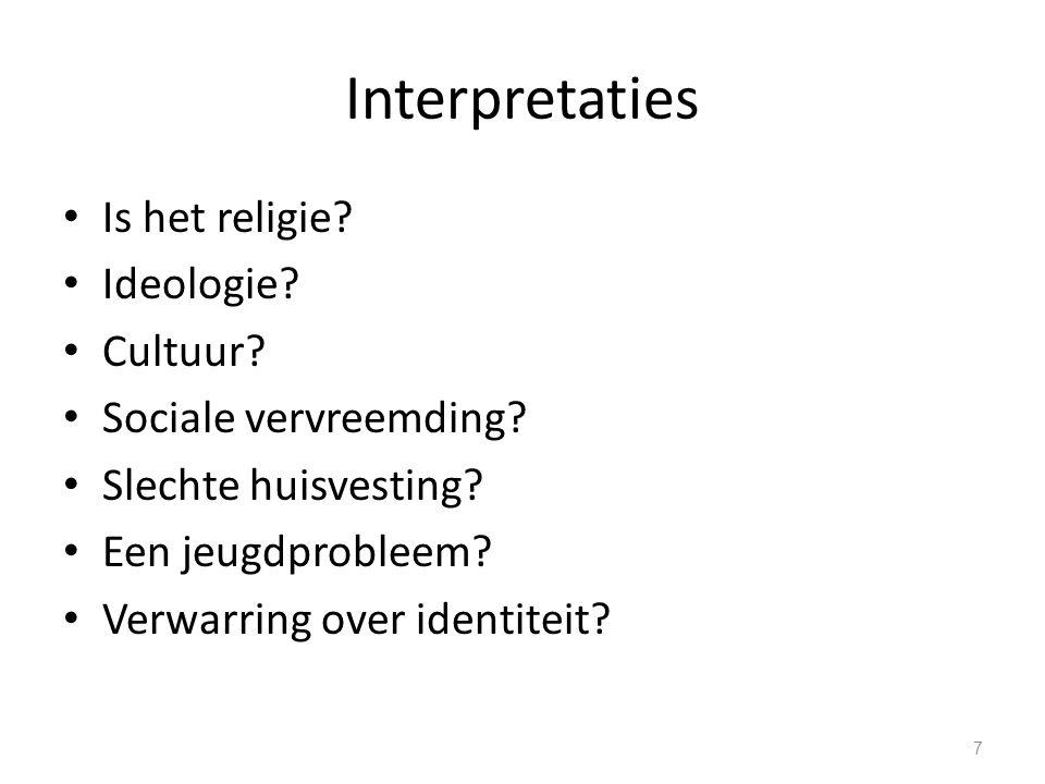 Interpretaties Is het religie. Ideologie. Cultuur.