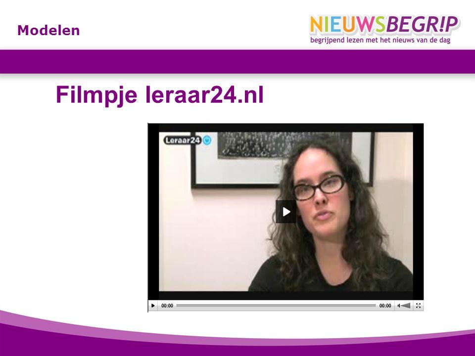 Modelen Filmpje leraar24.nl