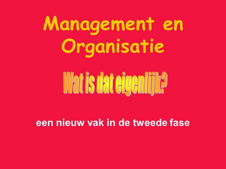 Management en Organisatie een nieuw vak in de tweede fase