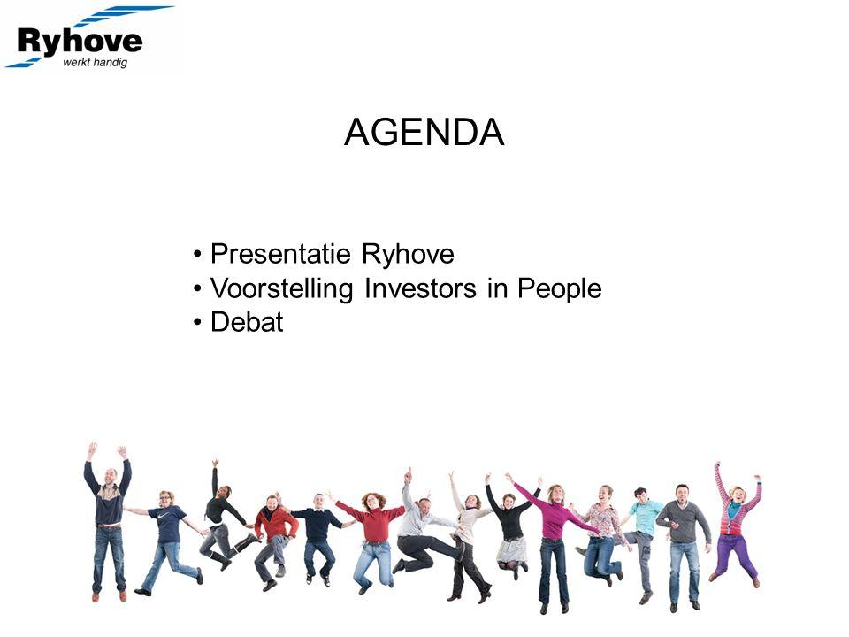 AGENDA Presentatie Ryhove Voorstelling Investors in People Debat