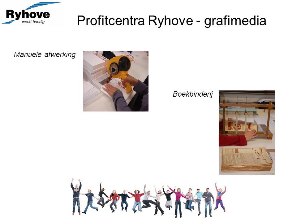 Profitcentra Ryhove - grafimedia Manuele afwerking Boekbinderij