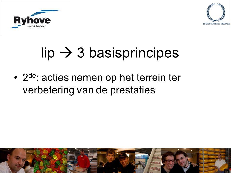 Iip  3 basisprincipes 2 de : acties nemen op het terrein ter verbetering van de prestaties