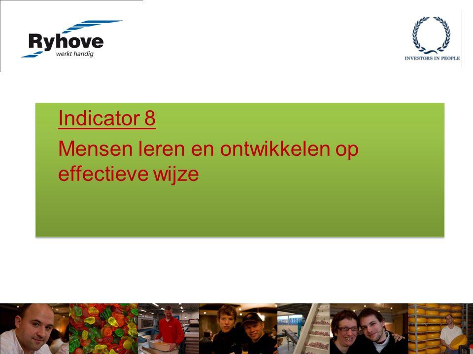 Indicator 8 Mensen leren en ontwikkelen op effectieve wijze Indicator 8 Mensen leren en ontwikkelen op effectieve wijze