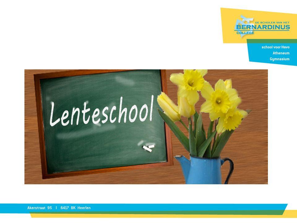 Lenteschool 2016 Samenwerkingsproject SVOPL en LVO Parkstad 'kwaliteiten gebruiken, kansen benutten en succes beleven' P.P.
