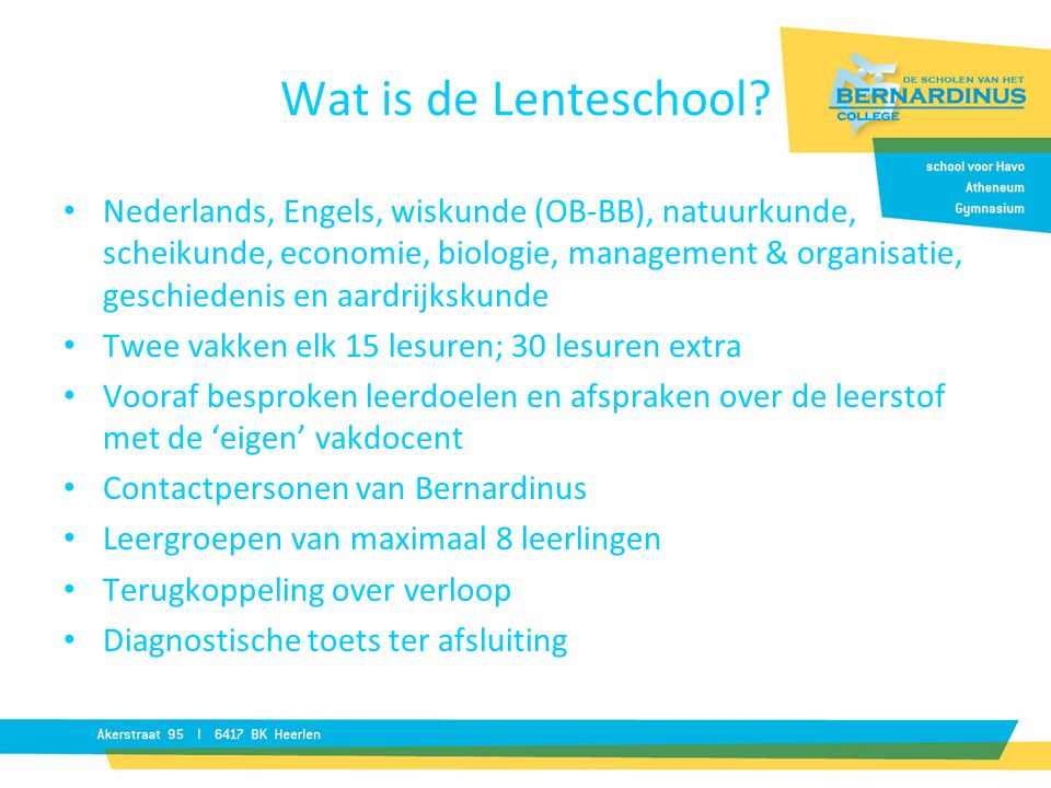 Wat is de Lenteschool.