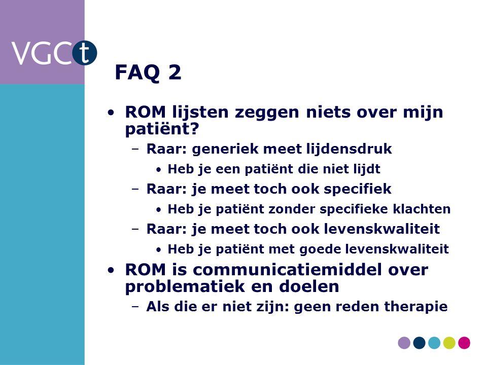 FAQ 2 ROM lijsten zeggen niets over mijn patiënt.
