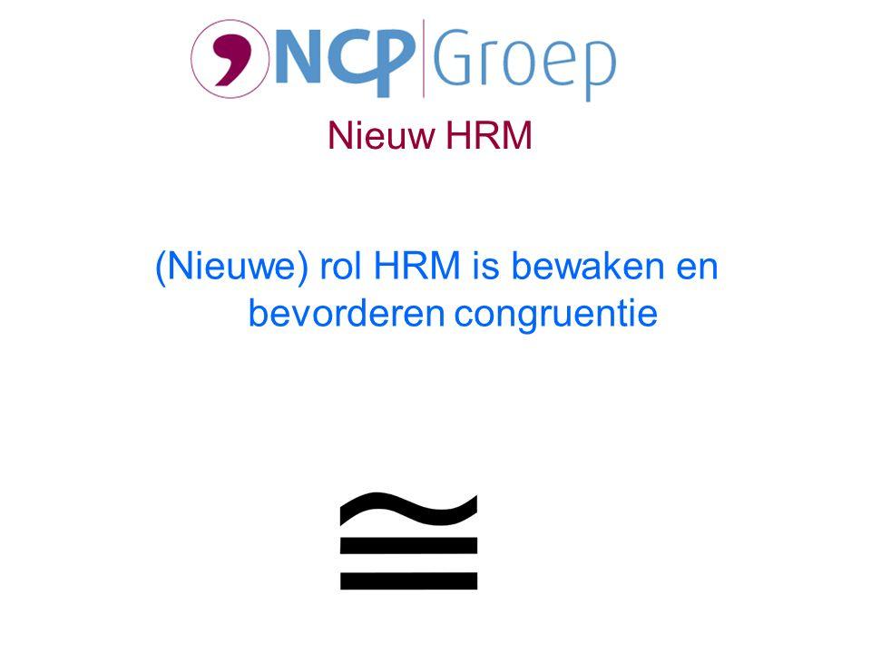 (Nieuwe) rol HRM is bewaken en bevorderen congruentie Nieuw HRM