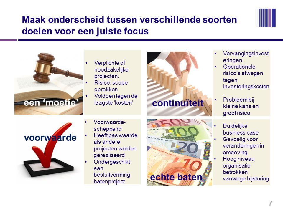 Stappen naar optimale prestatiecontracten en prestatie-inkoop 18 Opstellen goede behoeftestelling onderbelicht facet maar essentieel voor succesvol Plan van Eisen.