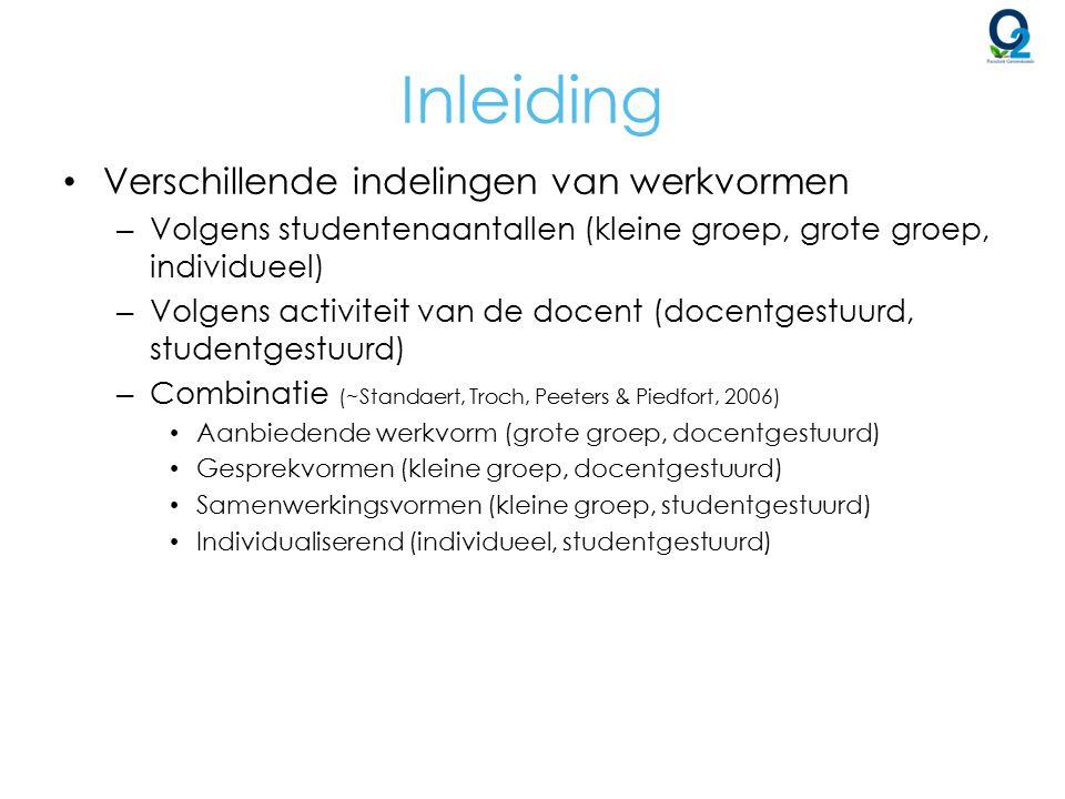 Aanbiedende vorm Doceren – Aangewezen bij (Standaert et al.