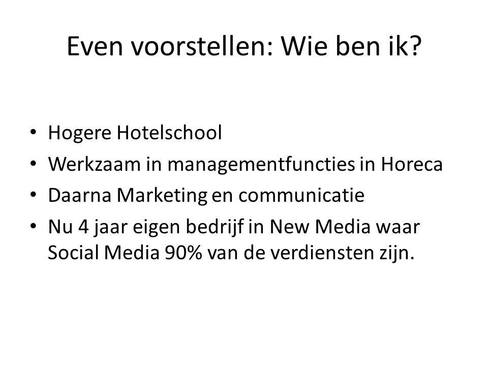 Social Media Zakelijk inzetten… Orders scoren werken nog niet via Social Media..