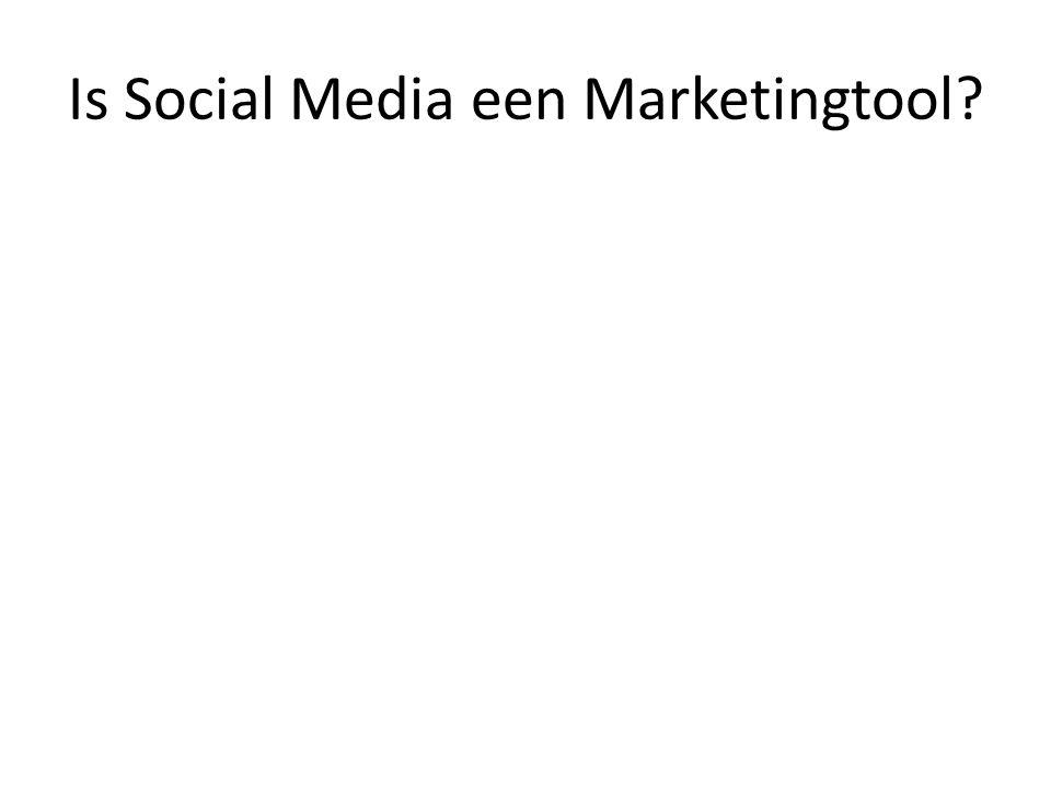 Is Social Media een Marketingtool?