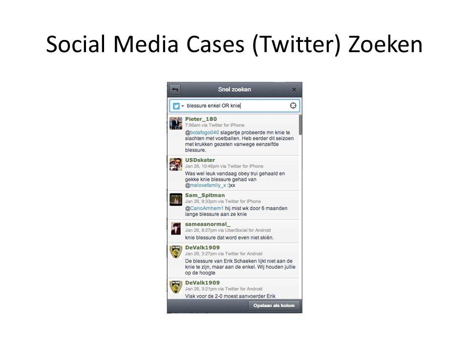 Social Media Cases (Twitter) Zoeken