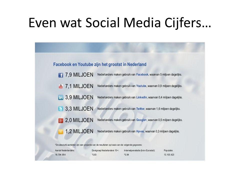 Even wat Social Media Cijfers…