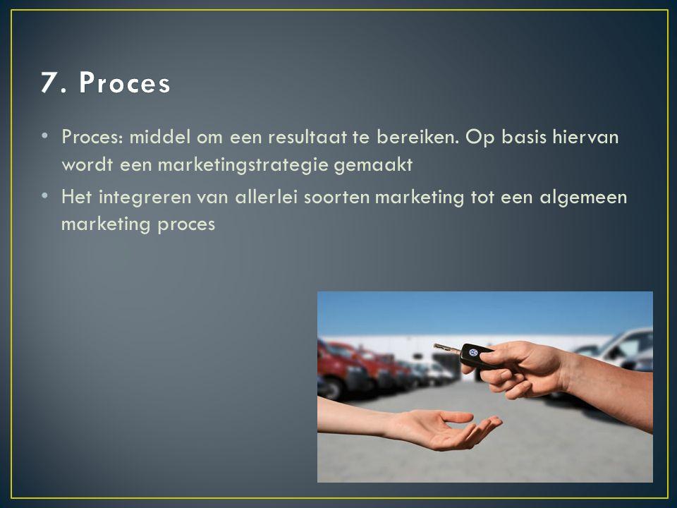 Proces: middel om een resultaat te bereiken.