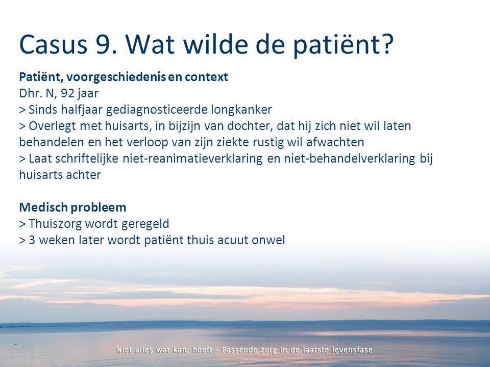 Patiënt, voorgeschiedenis en context Dhr.