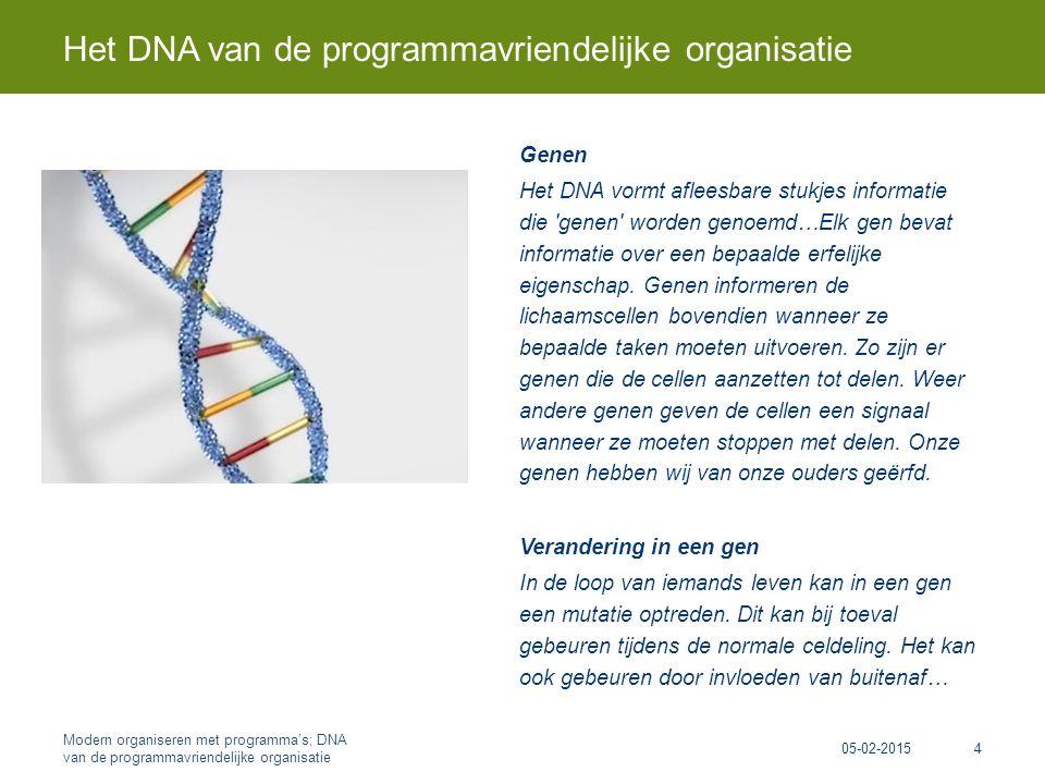 Genen Het DNA vormt afleesbare stukjes informatie die genen worden genoemd…Elk gen bevat informatie over een bepaalde erfelijke eigenschap.