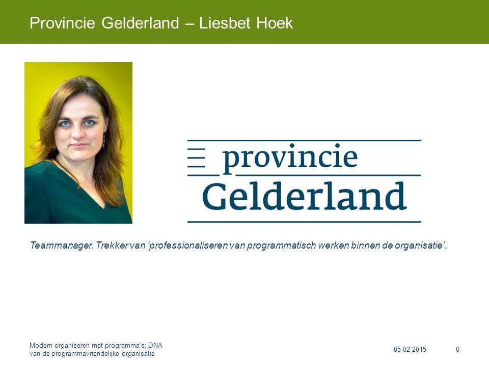 Teammanager. Trekker van 'professionaliseren van programmatisch werken binnen de organisatie'.