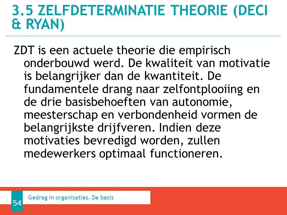 ZDT is een actuele theorie die empirisch onderbouwd werd.