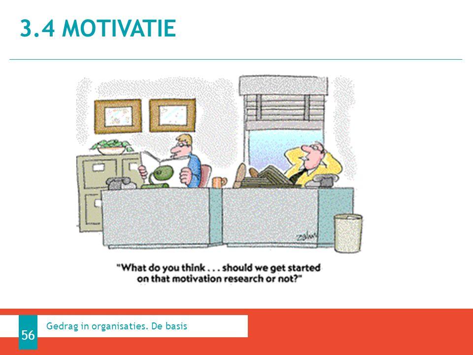 3.4 MOTIVATIE 56 Gedrag in organisaties. De basis