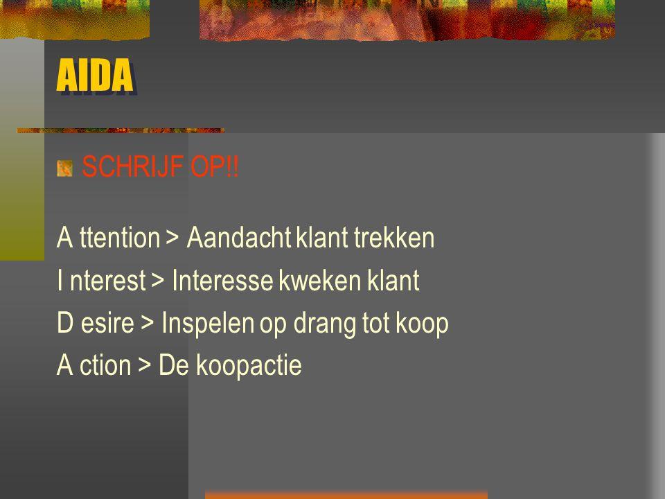 AIDA SCHRIJF OP!.