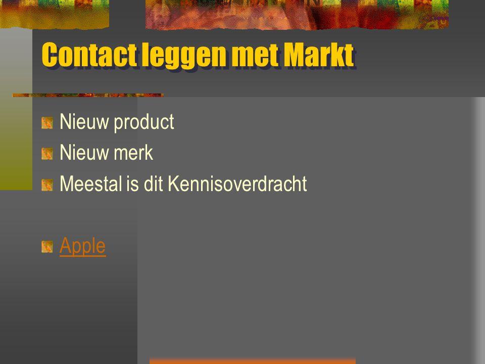 Contact leggen met Markt Nieuw product Nieuw merk Meestal is dit Kennisoverdracht Apple