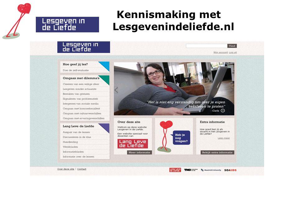 Kennismaking met Lesgevenindeliefde.nl