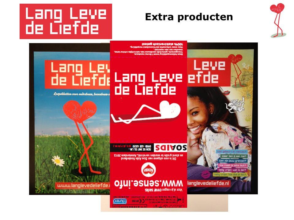 Extra producten Extra producten bij Lang Leve de Liefde Lang Leve de Liefde condooms Lang Leve de Liefde vragendoos Lang Leve de Liefde posters