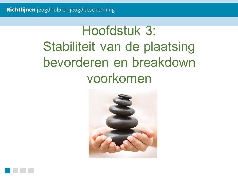 Hoofdstuk 3: Stabiliteit van de plaatsing bevorderen en breakdown voorkomen