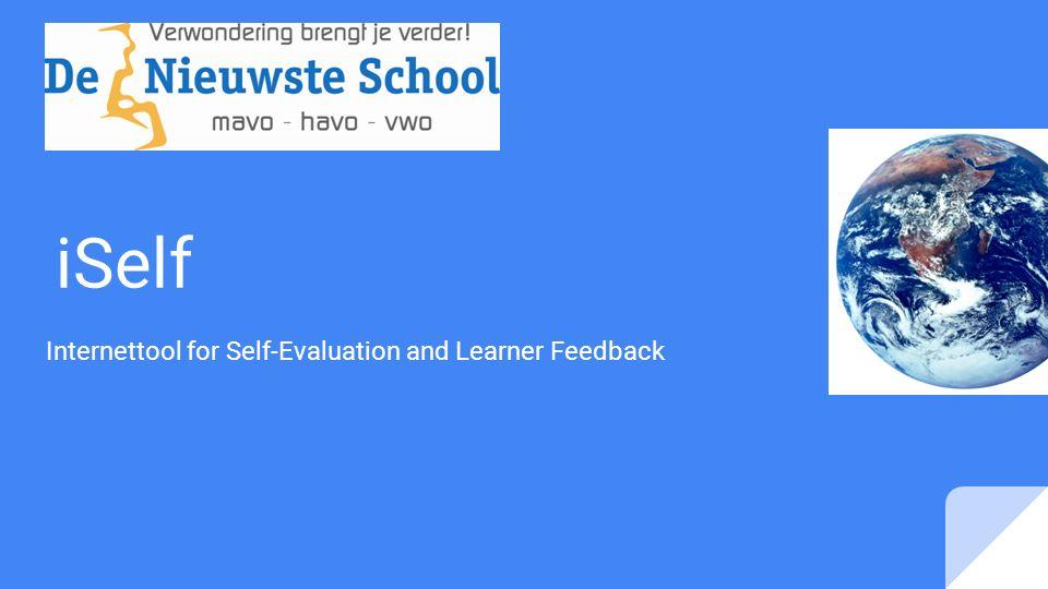 Programma van dit atelier Uitleg over wat de iSelf is Uitleg over hoe de iSelf werkt: door leerlingen van De Nieuwste School In gesprek met een leerling over zijn/haar iSelf zodat u kunt zien wat de iSelf precies is en de leerling kan aan de hand van uw vragen vertellen wat de iSelf voor hem/haar betekent
