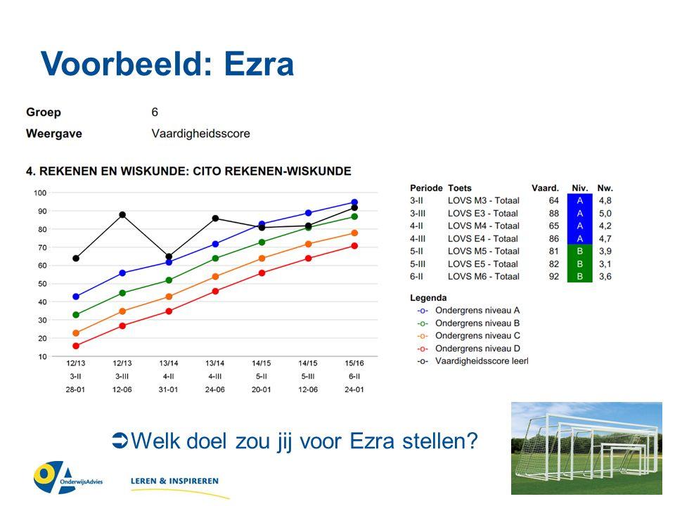 Voorbeeld: Ezra  Welk doel zou jij voor Ezra stellen?