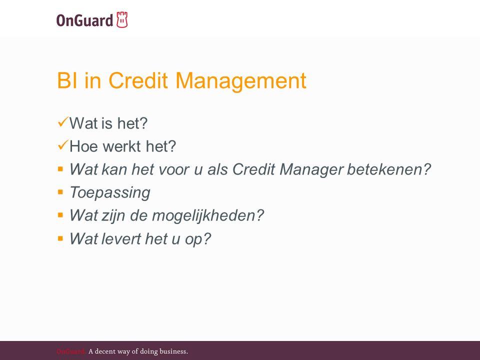 BI in Credit Management Wat is het. Hoe werkt het.
