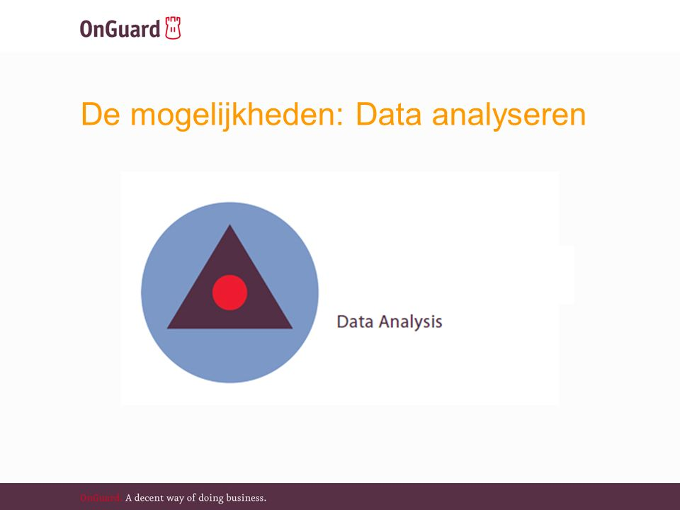De mogelijkheden: Data analyseren