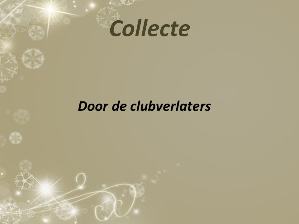 Collecte Door de clubverlaters