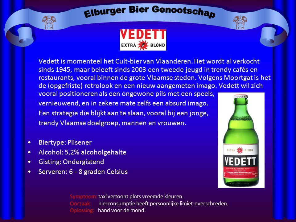 Vedett is momenteel het Cult-bier van Vlaanderen. Het wordt al verkocht sinds 1945, maar beleeft sinds 2003 een tweede jeugd in trendy cafés en restau