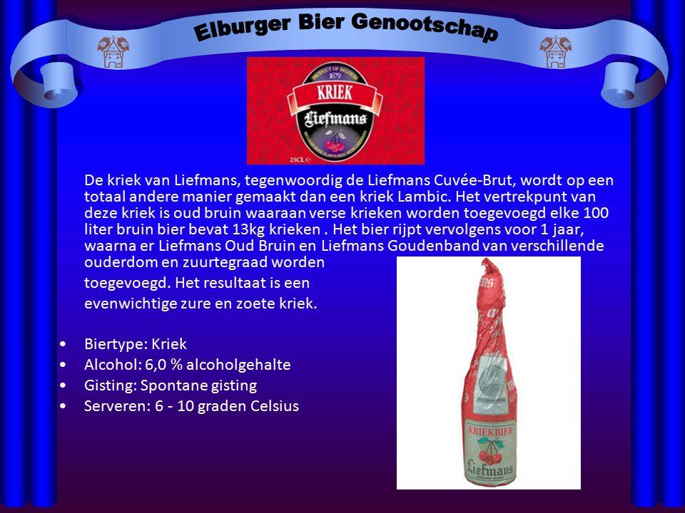De kriek van Liefmans, tegenwoordig de Liefmans Cuvée-Brut, wordt op een totaal andere manier gemaakt dan een kriek Lambic.