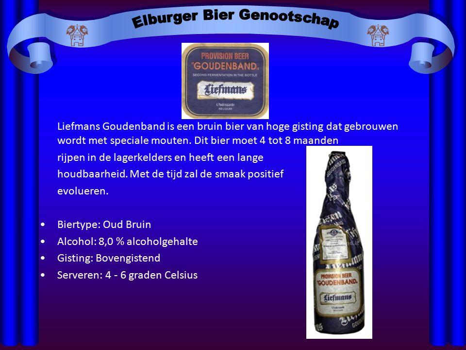 Liefmans Goudenband is een bruin bier van hoge gisting dat gebrouwen wordt met speciale mouten.