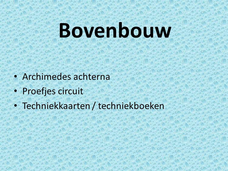 Bovenbouw Archimedes achterna Proefjes circuit Techniekkaarten / techniekboeken