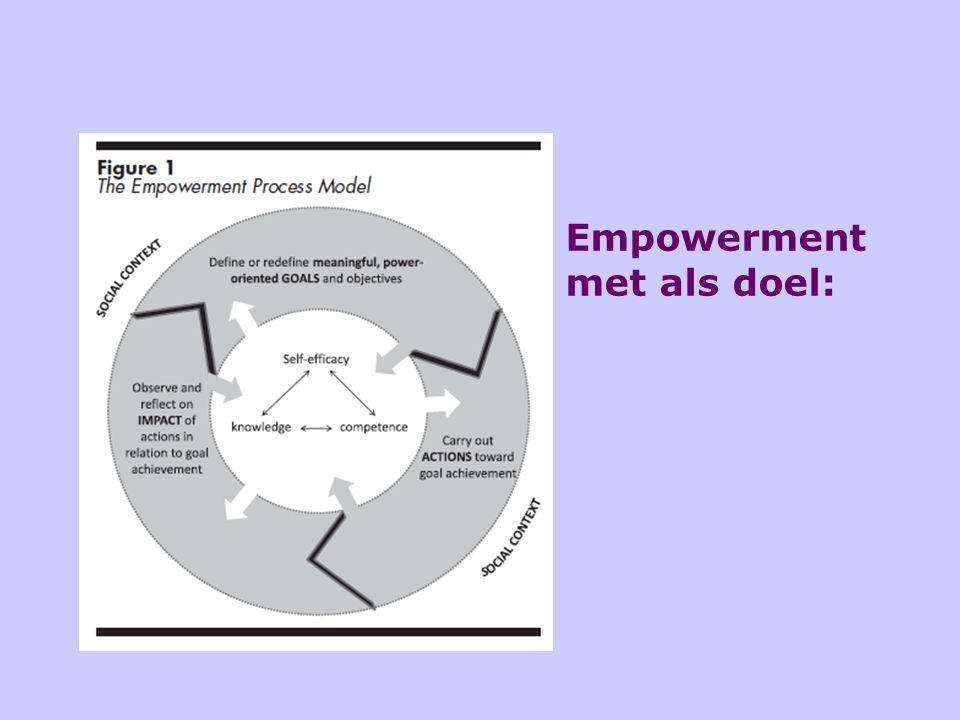Empowerment met als doel: