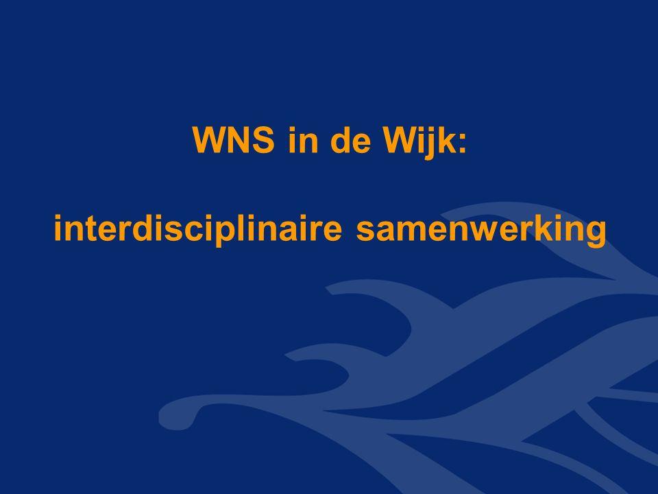 WNS in de Wijk: interdisciplinaire samenwerking