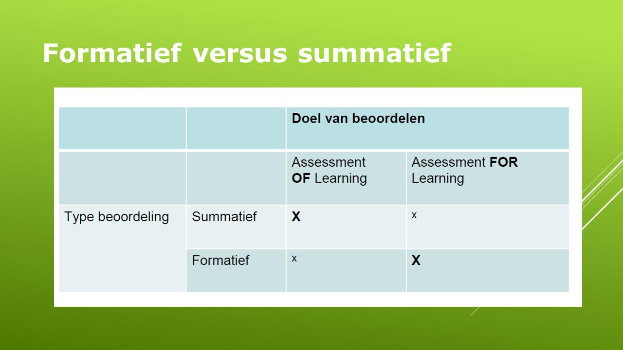 Formatief versus summatief