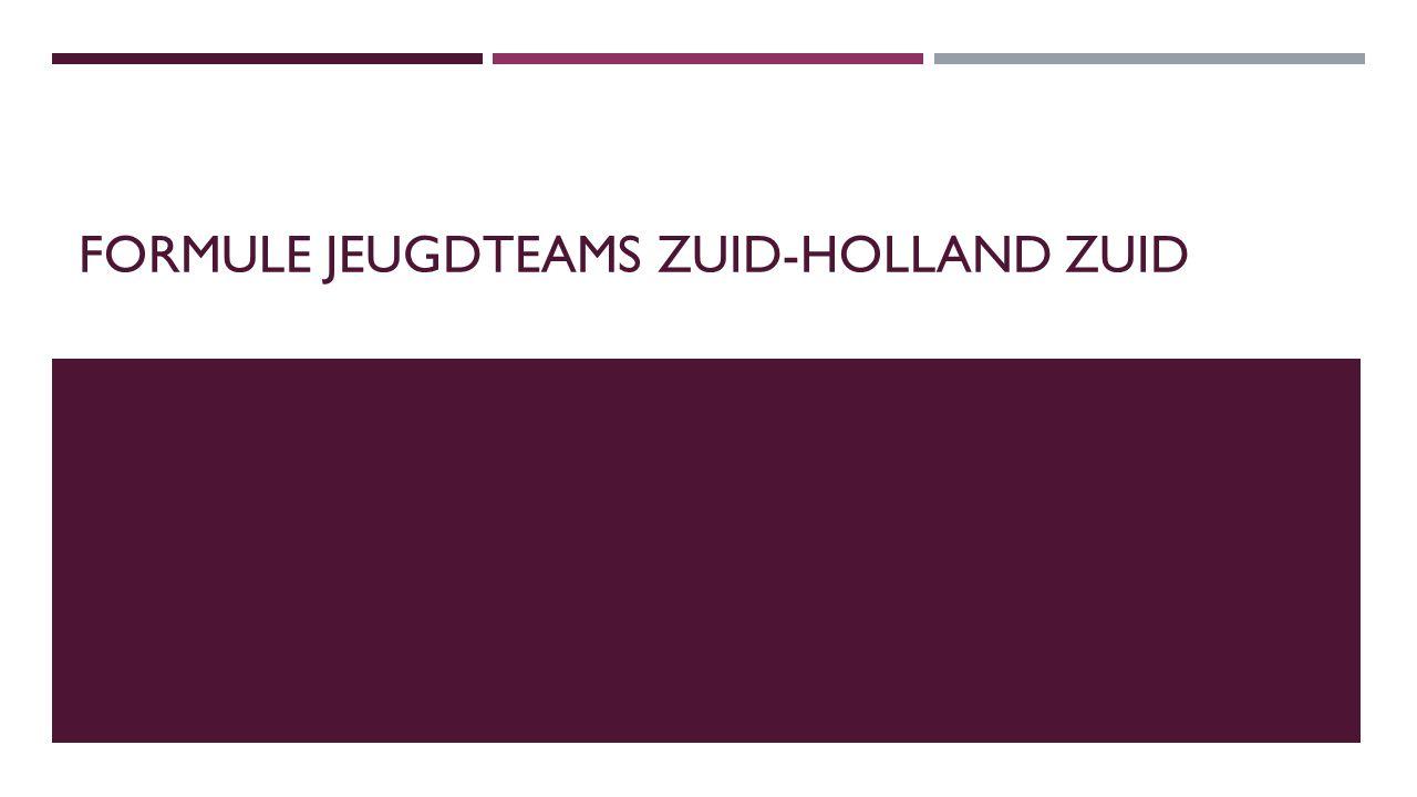 FORMULE JEUGDTEAMS ZUID-HOLLAND ZUID